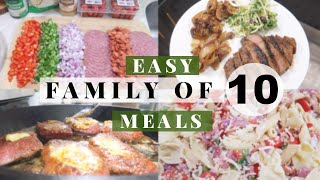 BIG FAMILY MEAL IDEAS \ Cook With Us For Our Large Family Of 10