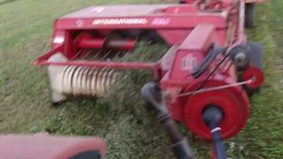 International Harvester 435 Baler First Use!!