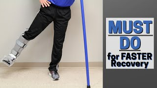 MUST Do Exercises with Injured Foot or Ankle- Faster Recovery