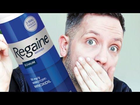 Test Haarwuchsmittel: Regaine mit Minoxidil – Grey Young