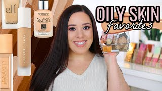 BEST FOUNDATIONS FOR OILY SKIN! DRUGSTORE & HIGH END!