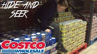 PLAYING HIDE AND SEEK IN COSTCO!!!