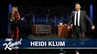 Heidi Klum & Jimmy Kimmel Train to Walk in High Heels with Raw Eggs