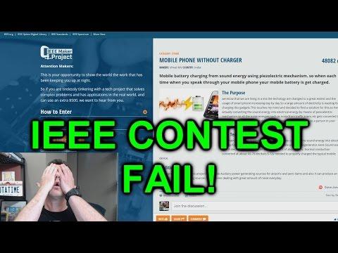 eevBLAB #25 - IEEE Maker Contest Extreme FAIL!