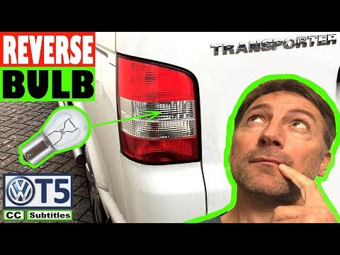 How to replace Reverse Bulb on VW T5 Transporter