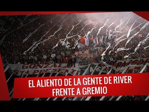 """""""El aliento de la gente de River frente a Gremio - Semifinal Copa Libertadores 2018"""" Barra: Los Borrachos del Tablón • Club: River Plate"""