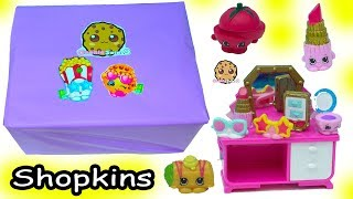 Giant Box Season 8 Americas Shopkins Packs Haul with Surprise Blind Bags - Toy Video