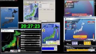 2015/05/30/ 20:23 M8.5 (震度5強)小笠原付近 感知システム1号