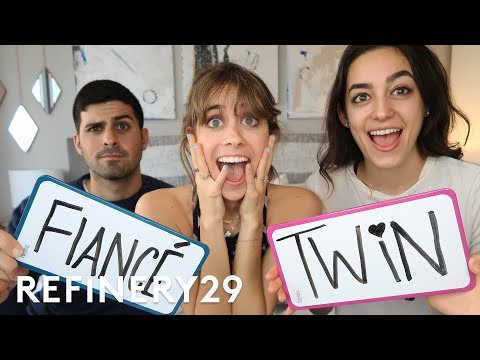 Does My Fiancé Or My Twin Know Me Better? | Lucie Fink Vlogs | Refinery29
