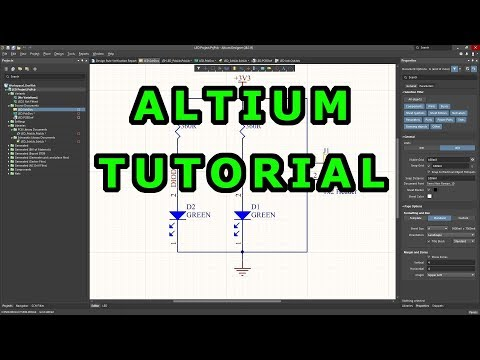 Tutorial 1 for Altium Beginners: How to draw schematic and create ...