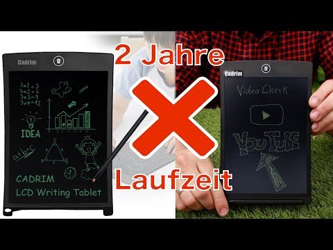 LCD WRITING TABLET - BOARD - PAD - DEUTSCH REVIEW - TEST