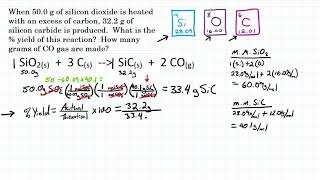 Calculate Percent Yield W/ Ideal Stoichiometry - Practice - 1
