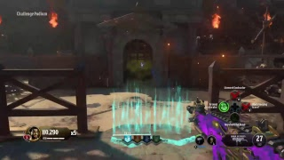 Black ops 4 Zombies solo gameplay on IX pack a punch and shield round 50 attempt
