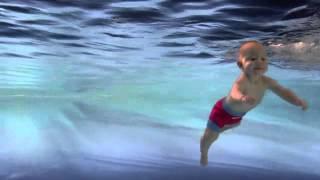 Secret Life of Babies: babies swimming underwater