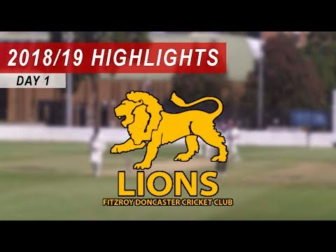 2018/19 Round 14 vs Fitzroy Doncaster 1st XI: Day 1 Highlights