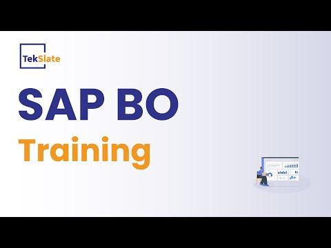 Free SAP BO Training Demo | SAP Business Objects (BO) 4.1 ...