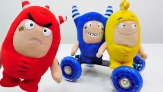 Ein spannender Tag mit den Oddbods: wir essen, spielen und treiben Sport  – Video mit Oddbods Toys