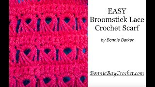 Broomstick Lace Crochet Scarf By Bonnie Barker