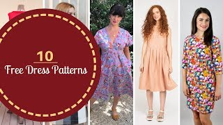 10 FREE Dress Patterns