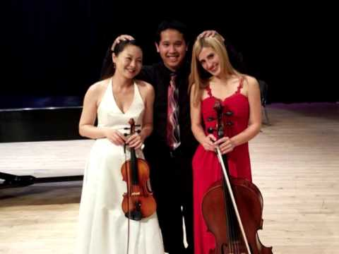 Performance of Brahms Trio by Calure Trio