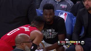 Russell Westbrook Has Some Words With Warriors Bench After Picking Up Second Technical