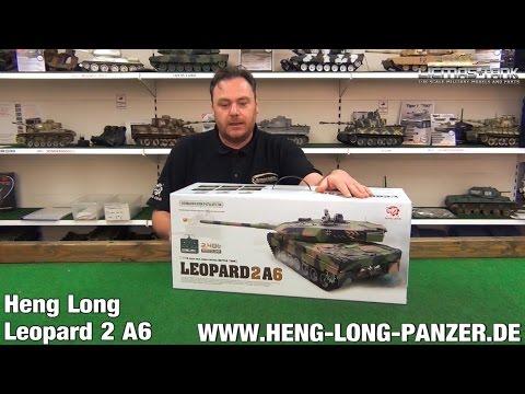 RC PANZER LEOPARD 2 A6 HENG LONG 3889-1 PRODUKTVORSTELLUNG AUSGEPACKT UNBOXING
