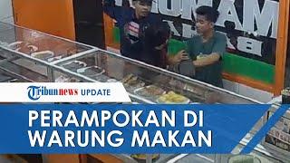 Tiga Pria Rampok Pelanggan Rumah Makan di Jaksel, Aksinya Terekam Jelas oleh Kamera CCTV
