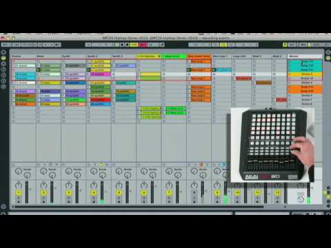 APC20 - Akai Pro Ableton Controller: Grouping, Cue Knob Scene Select Tutorial