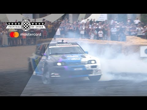 Ken Block's new Escort 'Cossie' makes public debut at Goodwood