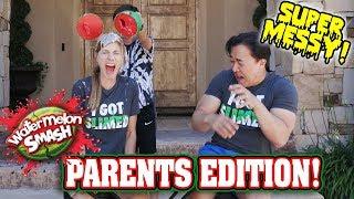 WATERMELON SMASH CHALLENGE   PARENTS EDITION!!! Messier Than Eat It Or Wear It!