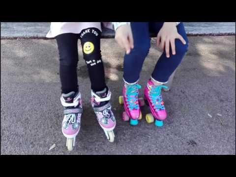 Enseñando a mi amiga a patinar.  😍