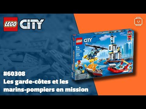 Vidéo LEGO City 60308 : Les garde-côtes et les marins-pompiers en mission