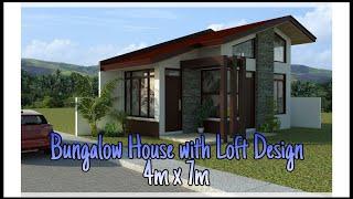 BUNGALOW HOUSE WITH LOFT DESIGN - #07