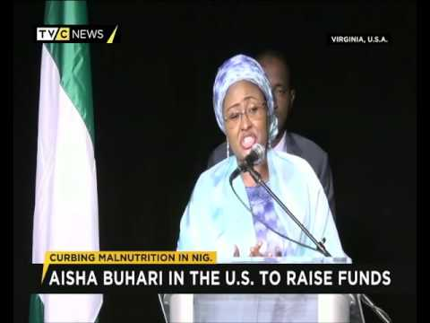 Wife of Nigeria's President, Aisha Buhari visits the U.S.A.