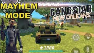 GANGSTAR NEW ORLEANS - MAYHEM GAME MODE GAMEPLAY - iOS / Android