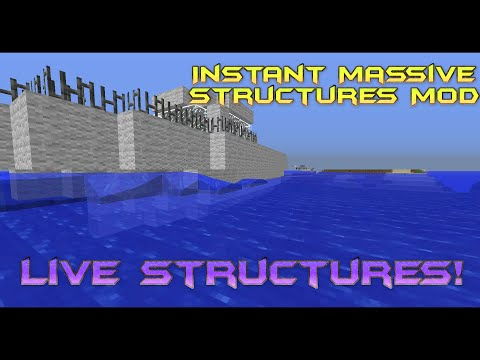 Instant Massive Structures Mod Unlimited - Minecraft multiplayer server erstellen 1 8