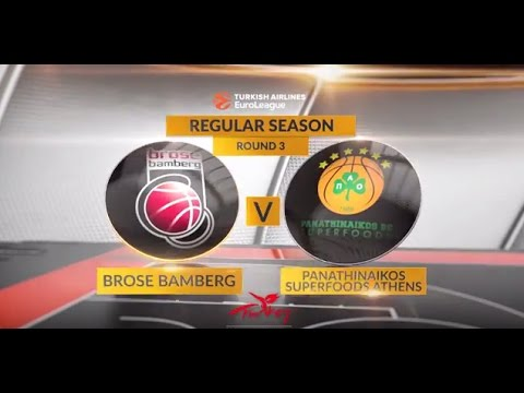 EuroLeague Highlights RS Round 3: Brose Bamberg 83-84 Panathinaikos Superfoods Athens