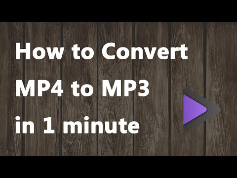 2020 New - How to Convert MP4 to MP3 in 1 minute