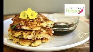 Fresh Scallop & Onion Korean Pancake (PaJeon 해물 파전) w/ Soy Sauce Vinaigrette Dipping Sauce - Mod