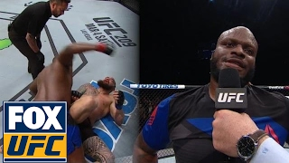 Derrick Lewis explains holding his stomach during fight with Travis Browne | @TheBuzzer | UFC ON FOX