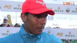 Rafael Nadal - 2019 Monte Carlo Quarterfinals Win Tennis Channel Interview
