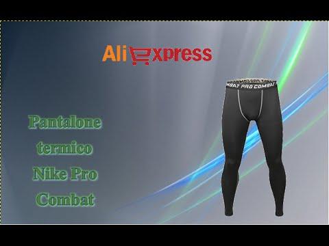 Aliexpress unboxing italia (94) - Pantaloni termici lunghi Nike / thermal pants / calças térmicas nk