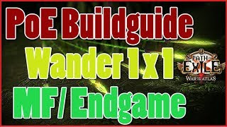[3.4] Build Guide   MF Wander Pathfinder Kinetic Blast  Barrage   Path Of Exile [Deutsch]