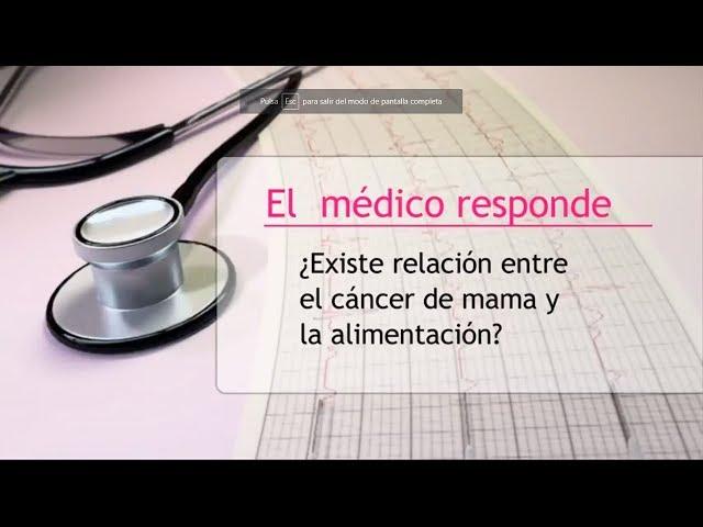 Relación entre el cáncer de mama y la alimentación - Hipólito Durán Giménez - Rico