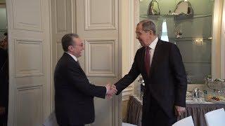 Rencontre entre Zohrab Mnatsakanyan et Sergueï Lavrov