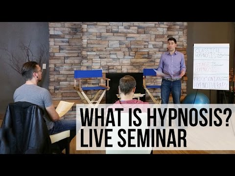 FREE Hypnotherapy Training Seminar - What is Hypnosis? - YouTube