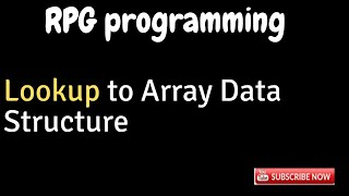 IBM i, AS400 Tutorial, iSeries, System i - Lookup to or Search Array data Structure in RPGLE