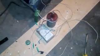 Остановка счетчика электроэнергии с помощью катушки Тесла ,из катушки зажигания автомобиля