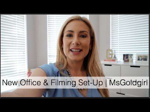 New Office & Filming Set Up | MsGoldgirl