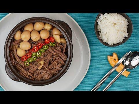 Video JANGJORIM, Braised Beef and Quail Eggs